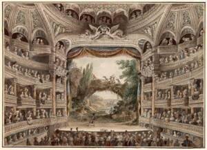 Intérieur de la Comédie-Française en 1790 - Antoine Meunier - Gallica - BnF