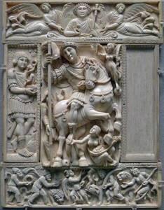 Diptyque Barberini, début du VIe siècle, Musée du Louvre - Mbzt