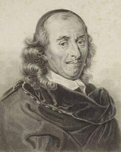 Pierre Corneille par Achille Devéria (XIXe siècle) (Le Brun, Charles (1619-1690). Peintre de l'œuvre reproduite)