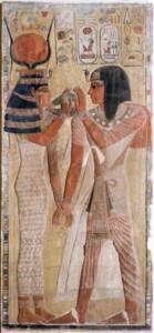 Séthi Ier et Hathor, tombe de Séthi Ier (vallée des rois) - RMN-Grand Palais / Hervé Lewandowski