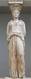 Caryatide de l'Érechthéion à Athènes - British Museum - Marie-Lan Nguyen