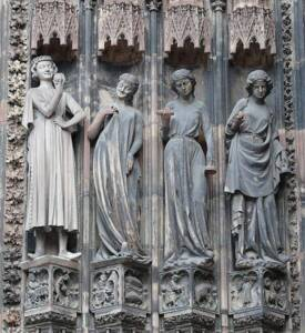 Le tentateur et les Vierges Folles - Cathédrale de Strasbourg, portail sud de droite - Ad Meskens