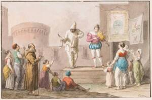 Performers of a Commedia dell'Arte, 1827