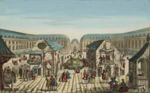 La foire Saint-Ovide par Jacques-Gabriel Huquier, (musée de la Révolution française)