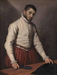 Chausses portées avec un pourpoint ( The Tailor ) - Giovanni Battista Moroni - National Gallery of London - The Yorck Project