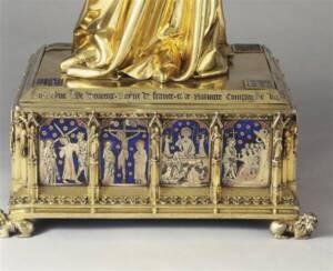 Vierge et l'Enfant de Jeanne d'Evreux (détail) - Photo (C) RMN-Grand Palais (musée du Louvre) / Martine Beck-Coppola