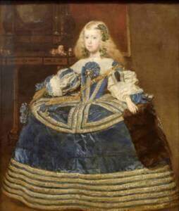 Portrait de l'Infante Marguerite-Thérèse d'Autriche en robe bleue avec vertugadin par Diego Velasquez - Musée d'Histoire de l'art de Vienne - Yelkrokoyade