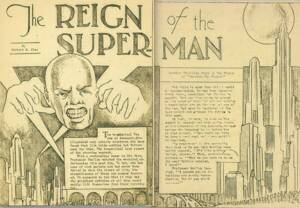 The Reign of the Superman, short story by Jerry Siegel, illustrated by Joe Shuster