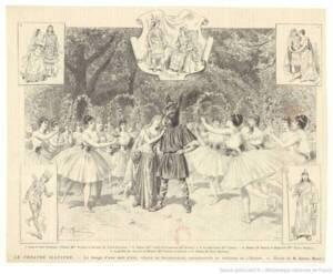 Le songe d'une nuit d'été au théâtre de l'Odéon, féerie en huit tableaux, de Shakespeare Dessin Adrien Marie Gallica - BnF