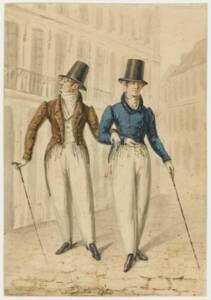 Deux fashionables en conquête (1826), Auguste Monsieur - RMN-Grand Palais (musée Magnin) / Thierry Le Mage
