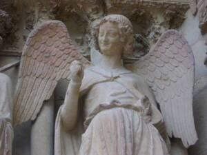 Statue de l'Ange au Sourire - Cathédrale Notre-Dame de Reims -  Fab5669