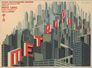 Une affiche pour le film Metropolis de Fritz Lang - Boris Konstantinowitsch Bilinski