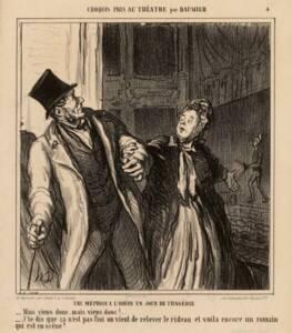 Une méprise à l'Odéon [...]. par Honoré Daumier - Musée Carnavalet