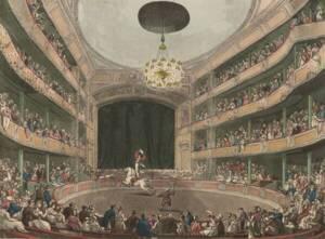 Intérieur de l'Amphithéâtre Astley de Westminster Bridge Road, à Londres, en 1808