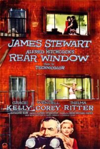 Affiche pour Rear Window / Fenêtre sur cour d'Alfred Hitchcock - Paramount International