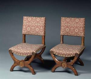 Paire de chaises par Welby Edward Pugin - Photo (C) RMN-Grand Palais (musée d'Orsay) / Hervé Lewandowski
