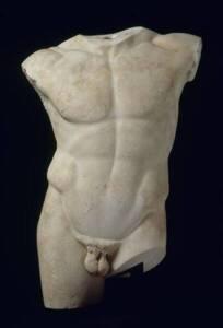 """Torse d'athlète du type dit du """"""""Diadumène"""" - Musée du Louvre, RMN-Grand Palais / Daniel Lebée / Carine Déambrosis"""