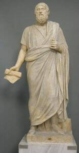 Statue de Sophocle, drapé dans un himation -  Sailko