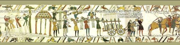 Extrait de la Tapisserie de Bayeux - Musée de la Tapisserie de Bayeux